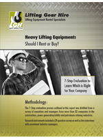 Buy Or Rent Heavy Lifting Equipment?